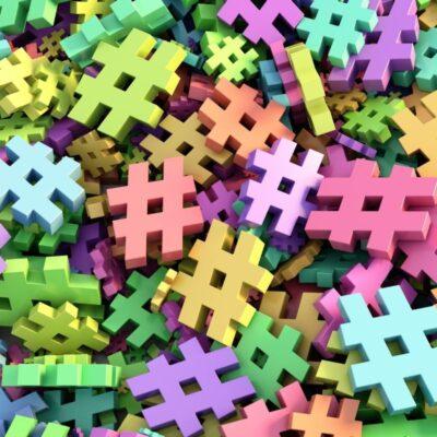 hashtag colorati